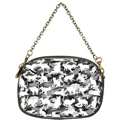 Black And White Catmouflage Camouflage Chain Purses (one Side)