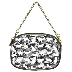 Black And White Catmouflage Camouflage Chain Purses (two Sides)