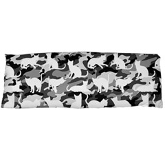 Black And White Catmouflage Camouflage Body Pillow Case Dakimakura (two Sides)