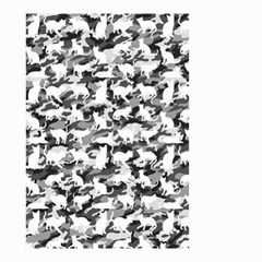 Black And White Catmouflage Camouflage Small Garden Flag (two Sides)