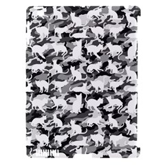 Black And White Catmouflage Camouflage Apple Ipad 3/4 Hardshell Case (compatible With Smart Cover)