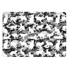 Black And White Catmouflage Camouflage Samsung Galaxy Tab 10 1  P7500 Flip Case