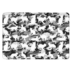 Black And White Catmouflage Camouflage Samsung Galaxy Tab 8 9  P7300 Flip Case
