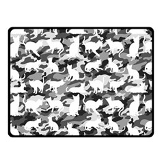 Black And White Catmouflage Camouflage Double Sided Fleece Blanket (small)