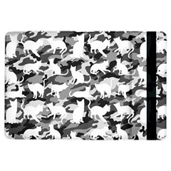 Black And White Catmouflage Camouflage Ipad Air Flip