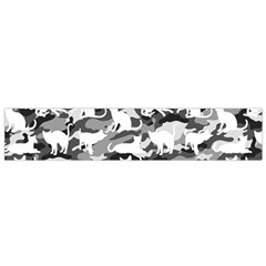 Black And White Catmouflage Camouflage Small Flano Scarf