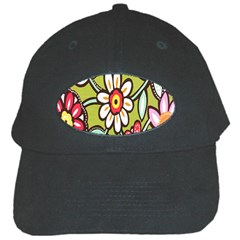 Flowers Fabrics Floral Design Black Cap
