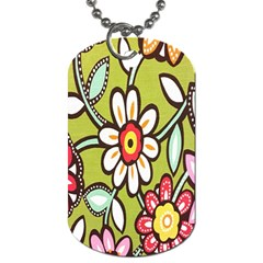 Flowers Fabrics Floral Design Dog Tag (two Sides)