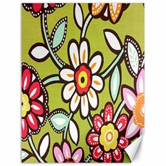 Flowers Fabrics Floral Design Canvas 12  X 16