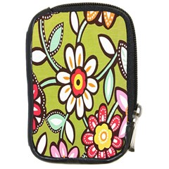 Flowers Fabrics Floral Design Compact Camera Cases