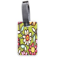 Flowers Fabrics Floral Design Luggage Tags (one Side)
