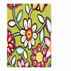 Flowers Fabrics Floral Design Small Garden Flag (two Sides)