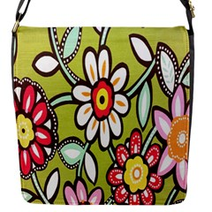 Flowers Fabrics Floral Design Flap Messenger Bag (s)