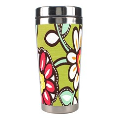 Flowers Fabrics Floral Design Stainless Steel Travel Tumblers