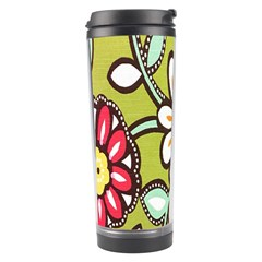 Flowers Fabrics Floral Design Travel Tumbler