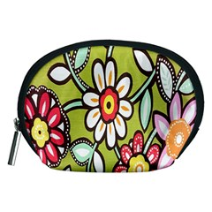 Flowers Fabrics Floral Design Accessory Pouches (medium)