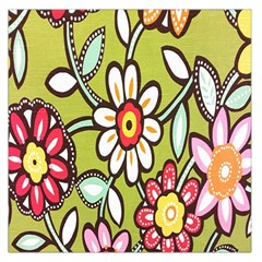 Flowers Fabrics Floral Design Large Satin Scarf (square)