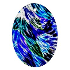 Abstract Background Blue White Ornament (oval)