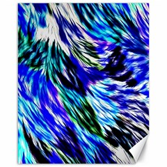 Abstract Background Blue White Canvas 16  X 20