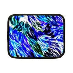 Abstract Background Blue White Netbook Case (small)