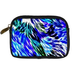 Abstract Background Blue White Digital Camera Cases