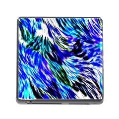 Abstract Background Blue White Memory Card Reader (square)