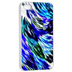 Abstract Background Blue White Apple Iphone 4/4s Seamless Case (white)