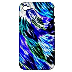 Abstract Background Blue White Apple Iphone 4/4s Hardshell Case (pc+silicone)