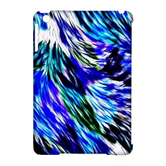 Abstract Background Blue White Apple Ipad Mini Hardshell Case (compatible With Smart Cover)