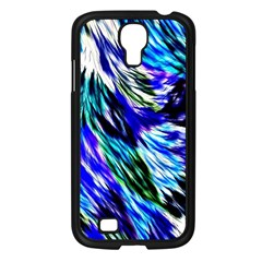 Abstract Background Blue White Samsung Galaxy S4 I9500/ I9505 Case (black)