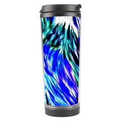 Abstract Background Blue White Travel Tumbler