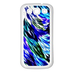 Abstract Background Blue White Samsung Galaxy S3 Back Case (white)