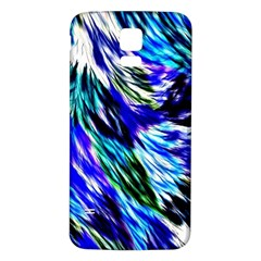 Abstract Background Blue White Samsung Galaxy S5 Back Case (white)