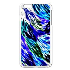 Abstract Background Blue White Apple Iphone 6 Plus/6s Plus Enamel White Case