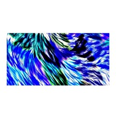 Abstract Background Blue White Satin Wrap