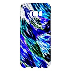 Abstract Background Blue White Samsung Galaxy S8 Plus Hardshell Case