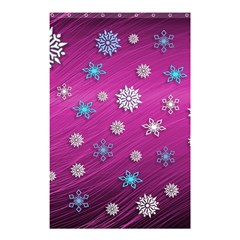 Snowflakes 3d Random Overlay Shower Curtain 48  X 72  (small)