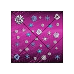 Snowflakes 3d Random Overlay Acrylic Tangram Puzzle (4  X 4 )