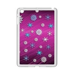 Snowflakes 3d Random Overlay Ipad Mini 2 Enamel Coated Cases