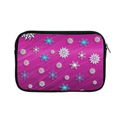 Snowflakes 3d Random Overlay Apple Ipad Mini Zipper Cases