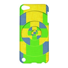 Fabric 3d Geometric Circles Lime Apple Ipod Touch 5 Hardshell Case