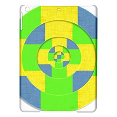 Fabric 3d Geometric Circles Lime Ipad Air Hardshell Cases