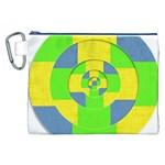 Fabric 3d Geometric Circles Lime Canvas Cosmetic Bag (XXL) Front