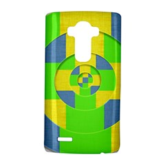 Fabric 3d Geometric Circles Lime Lg G4 Hardshell Case