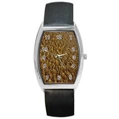 Water Mirror Background Pattern Barrel Style Metal Watch