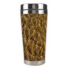 Water Mirror Background Pattern Stainless Steel Travel Tumblers