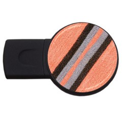 Fabric Textile Texture Surface Usb Flash Drive Round (2 Gb)