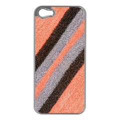 Fabric Textile Texture Surface Apple Iphone 5 Case (silver)