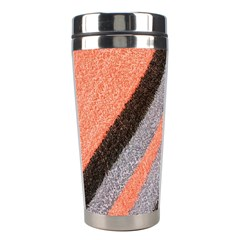 Fabric Textile Texture Surface Stainless Steel Travel Tumblers