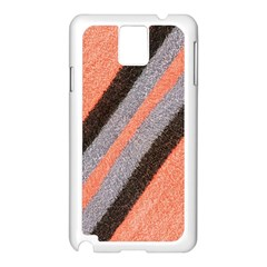Fabric Textile Texture Surface Samsung Galaxy Note 3 N9005 Case (white)